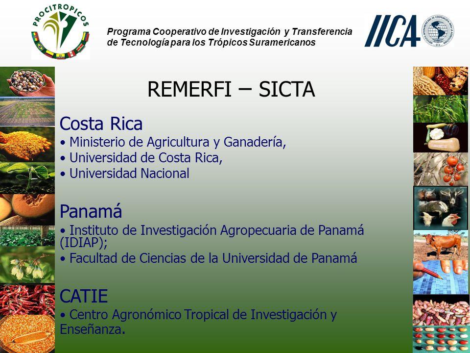 REMERFI – SICTA Costa Rica Panamá CATIE
