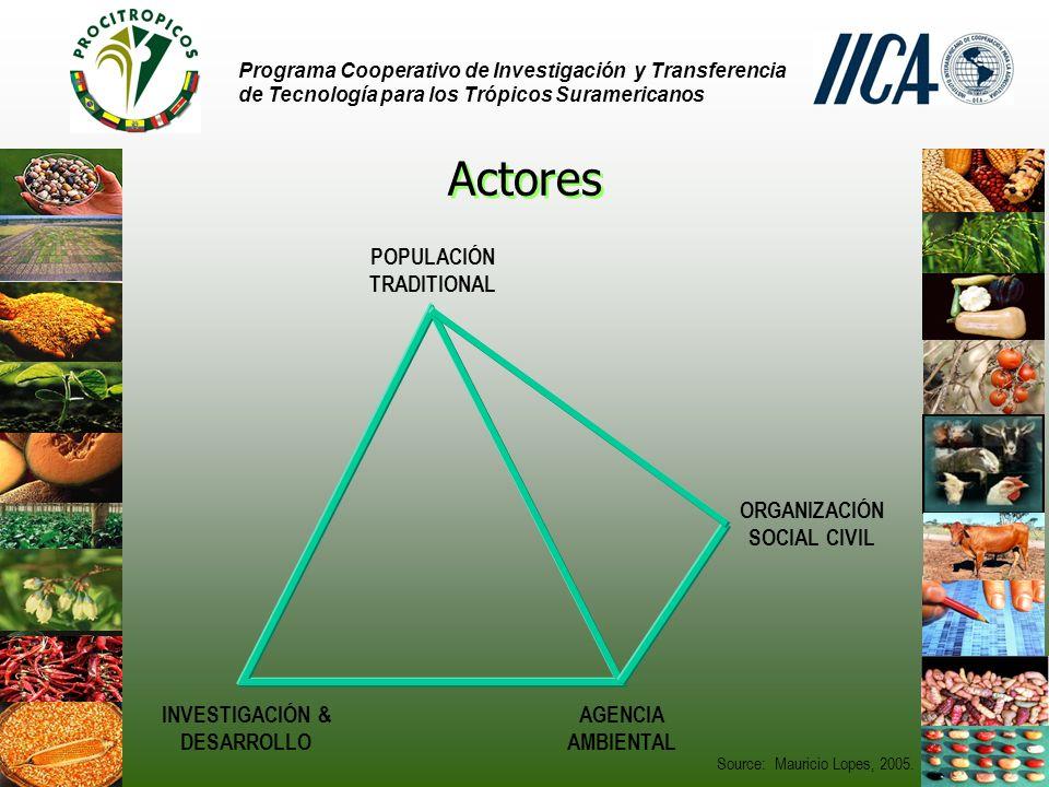 Actores POPULACIÓN TRADITIONAL ORGANIZACIÓN SOCIAL CIVIL