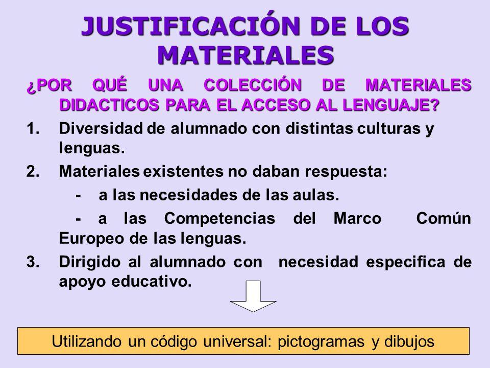 JUSTIFICACIÓN DE LOS MATERIALES