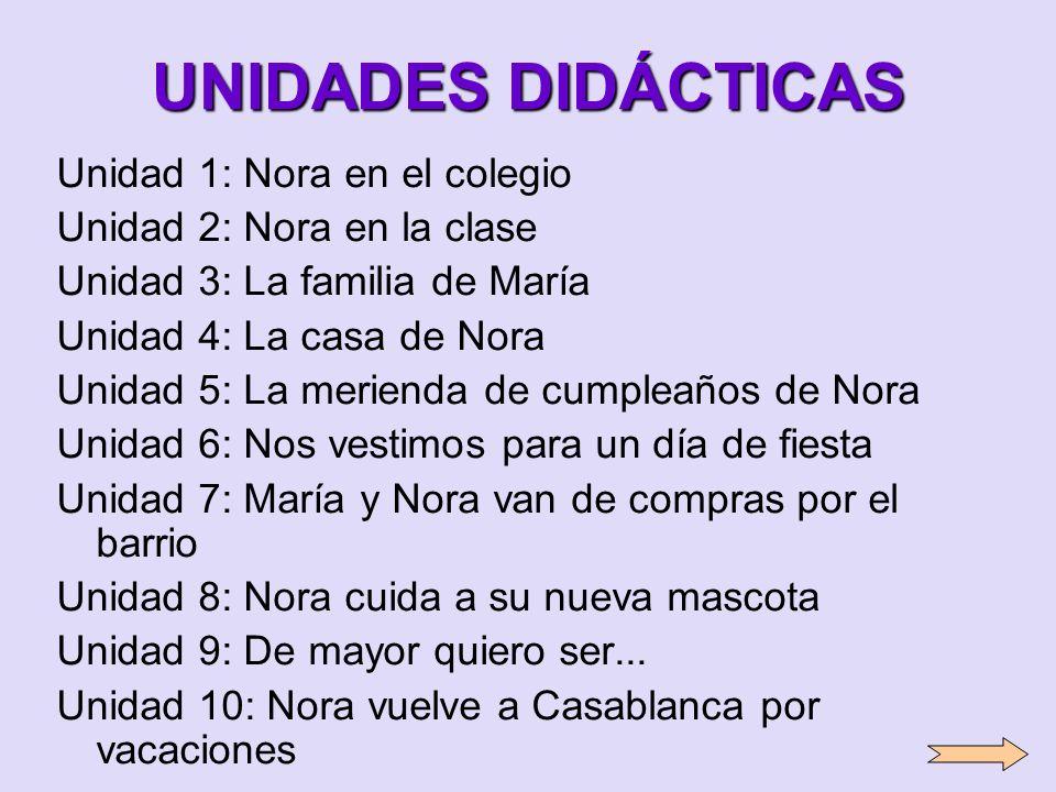 UNIDADES DIDÁCTICAS Unidad 1: Nora en el colegio