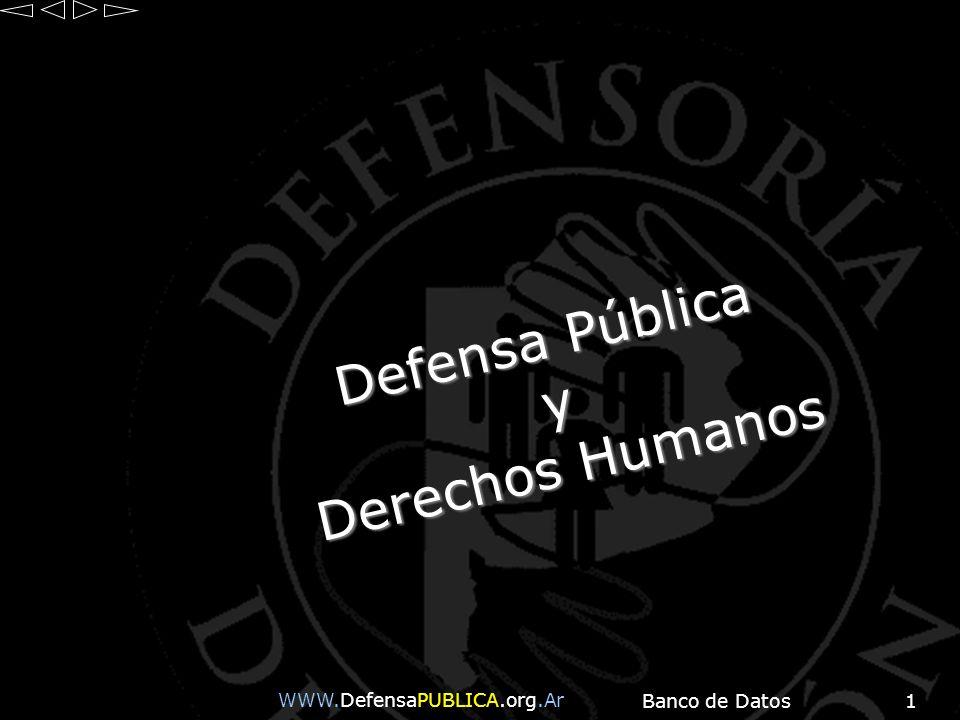 Defensa Pública y Derechos Humanos