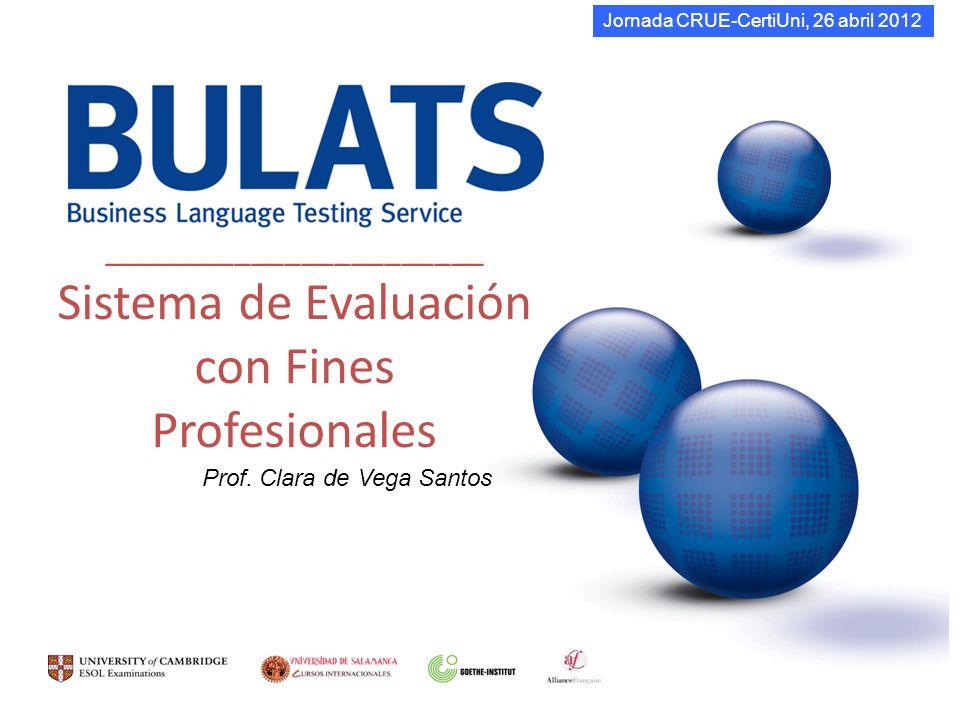 _______________________ Sistema de Evaluación con Fines Profesionales