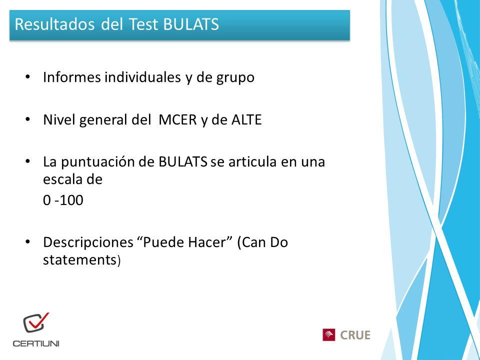 Resultados del Test BULATS