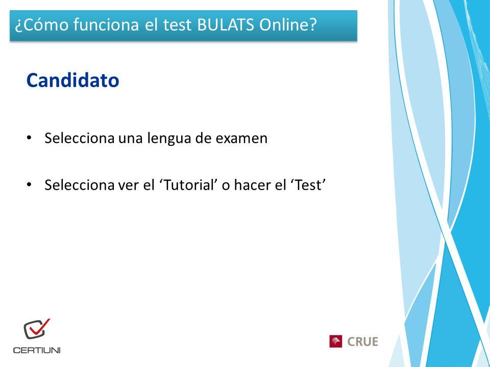 Candidato ¿Cómo funciona el test BULATS Online