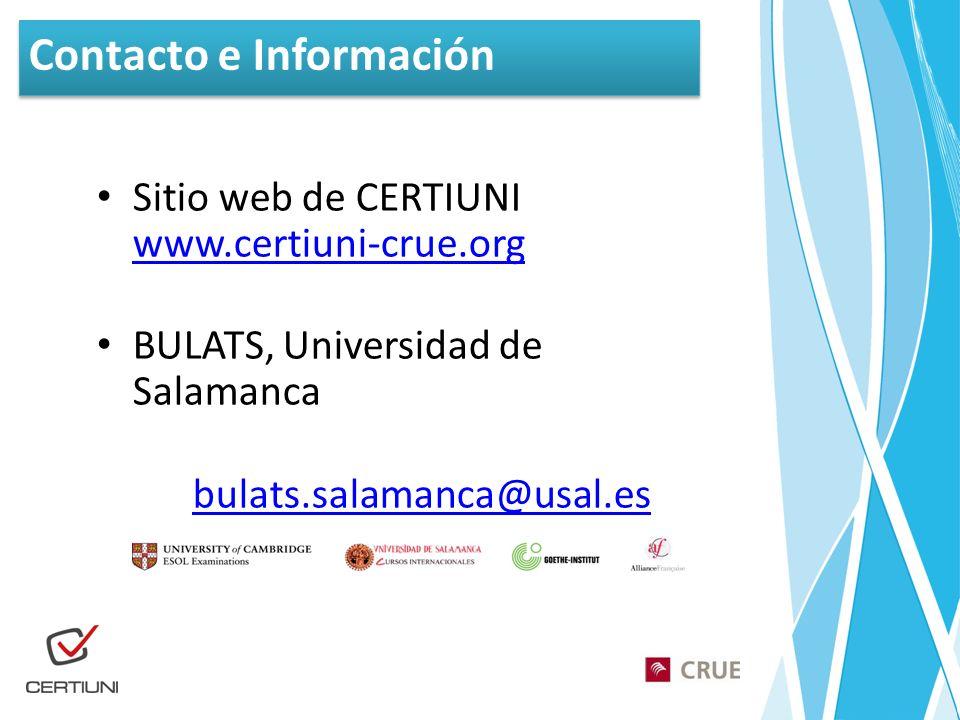 Contacto e Información