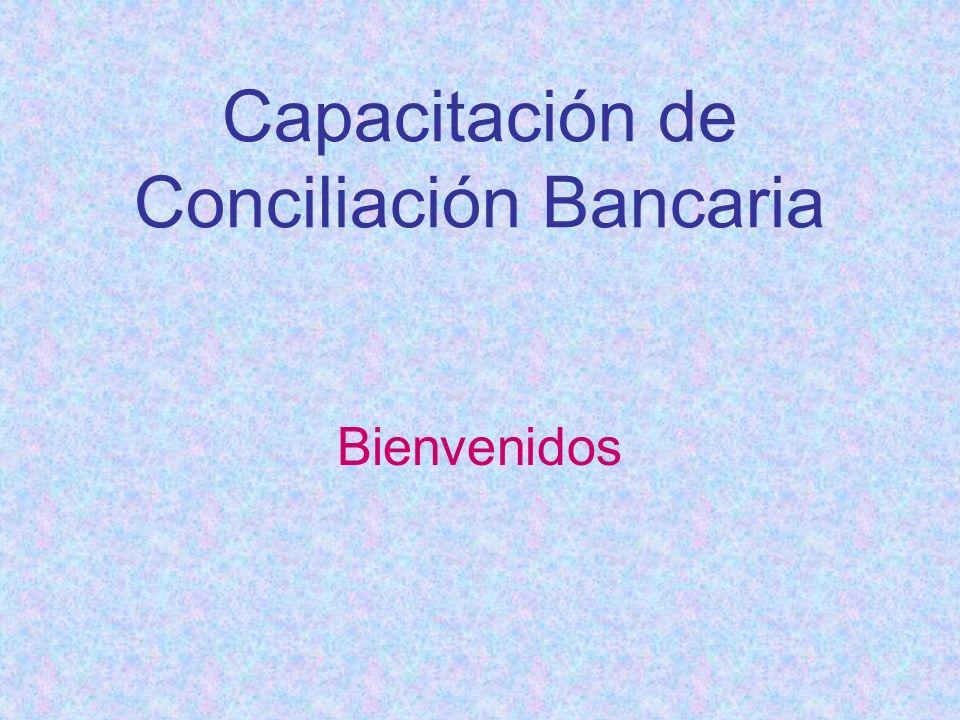 Capacitación de Conciliación Bancaria
