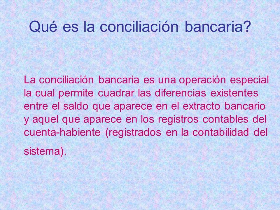 Qué es la conciliación bancaria
