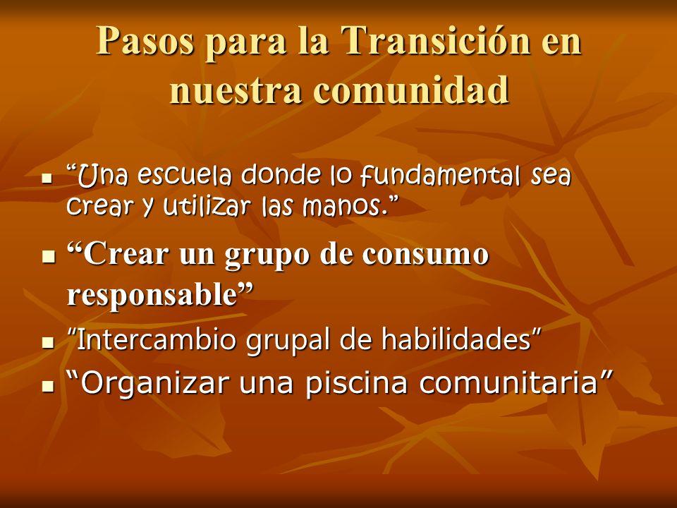 Pasos para la Transición en nuestra comunidad