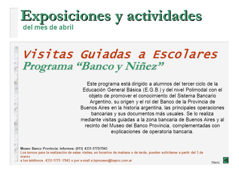 Exposiciones y actividades