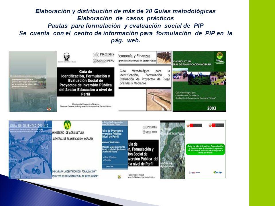 Elaboración y distribución de más de 20 Guías metodológicas
