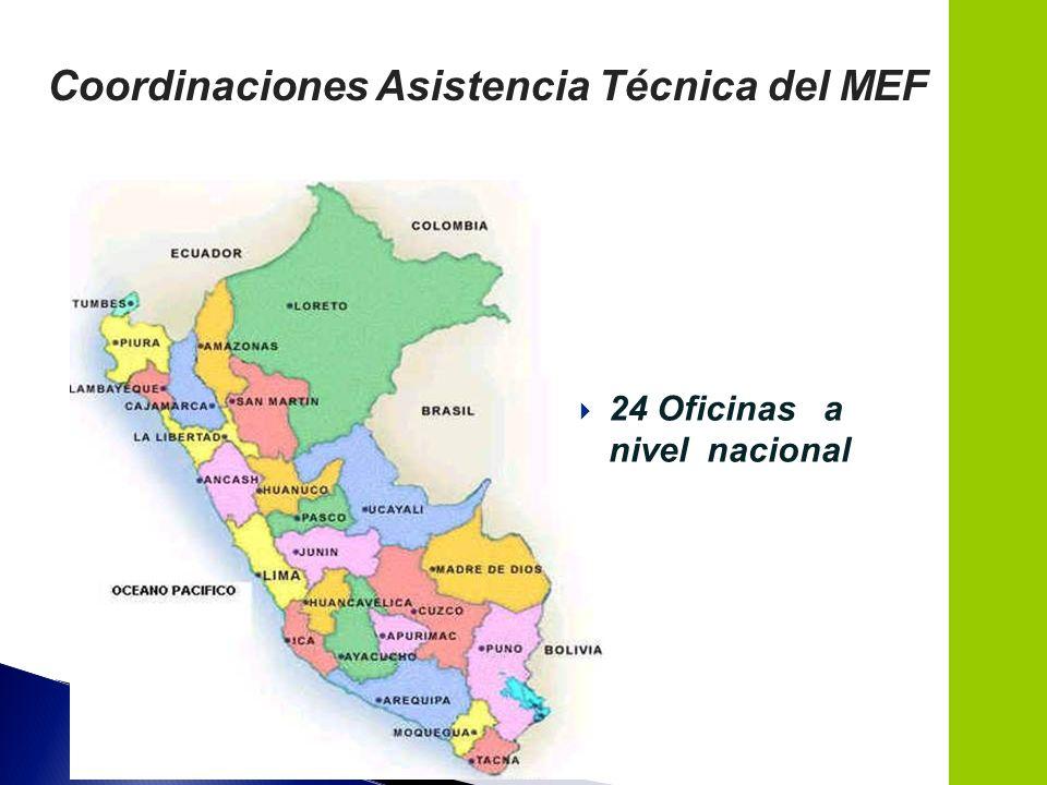 Coordinaciones Asistencia Técnica del MEF