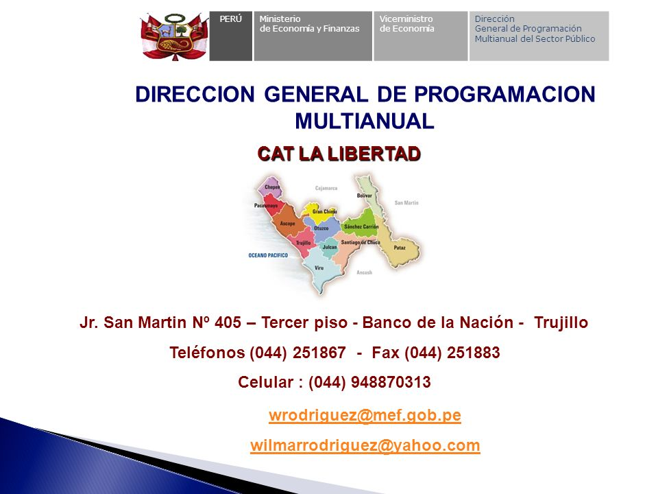 DIRECCION GENERAL DE PROGRAMACION MULTIANUAL