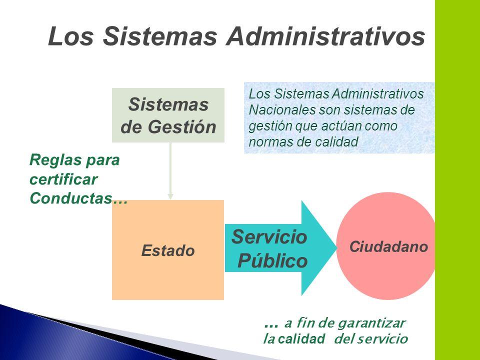 Los Sistemas Administrativos la calidad del servicio