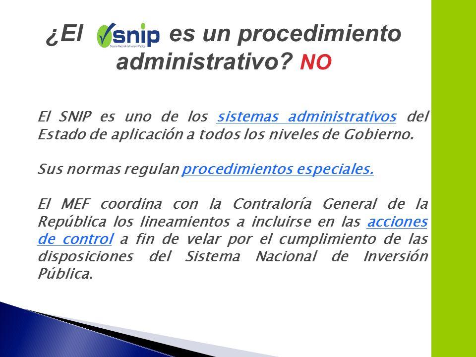 ¿El es un procedimiento administrativo NO
