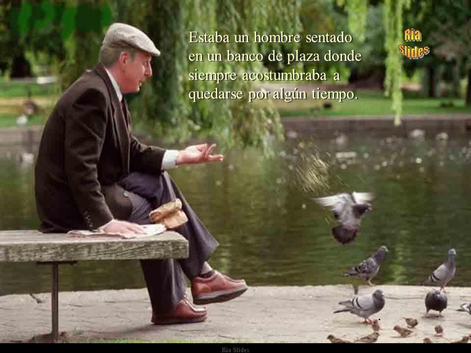 Estaba un hombre sentado en un banco de plaza donde siempre acostumbraba a quedarse por algún tiempo.