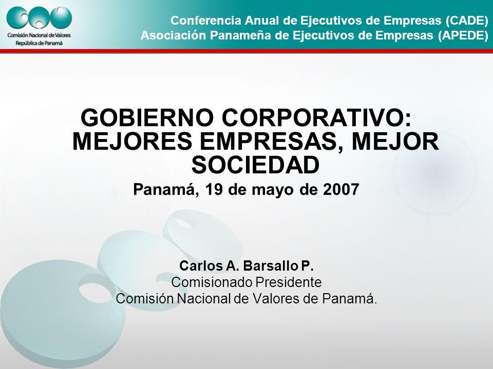 GOBIERNO CORPORATIVO: MEJORES EMPRESAS, MEJOR SOCIEDAD