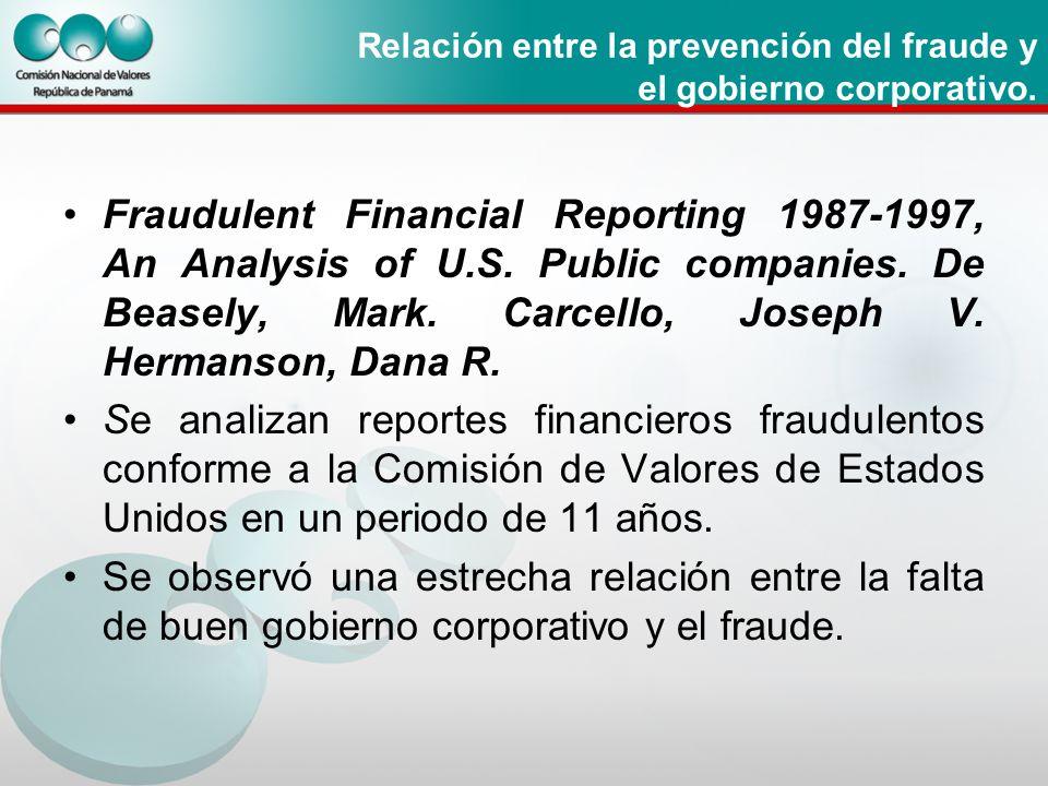 Relación entre la prevención del fraude y el gobierno corporativo.