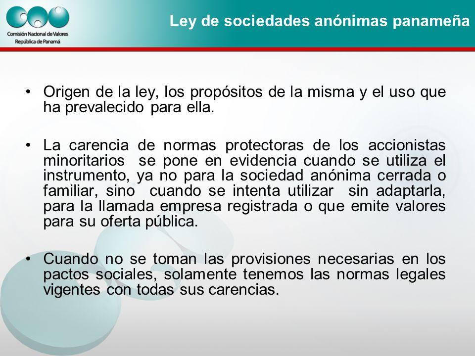 Ley de sociedades anónimas panameña