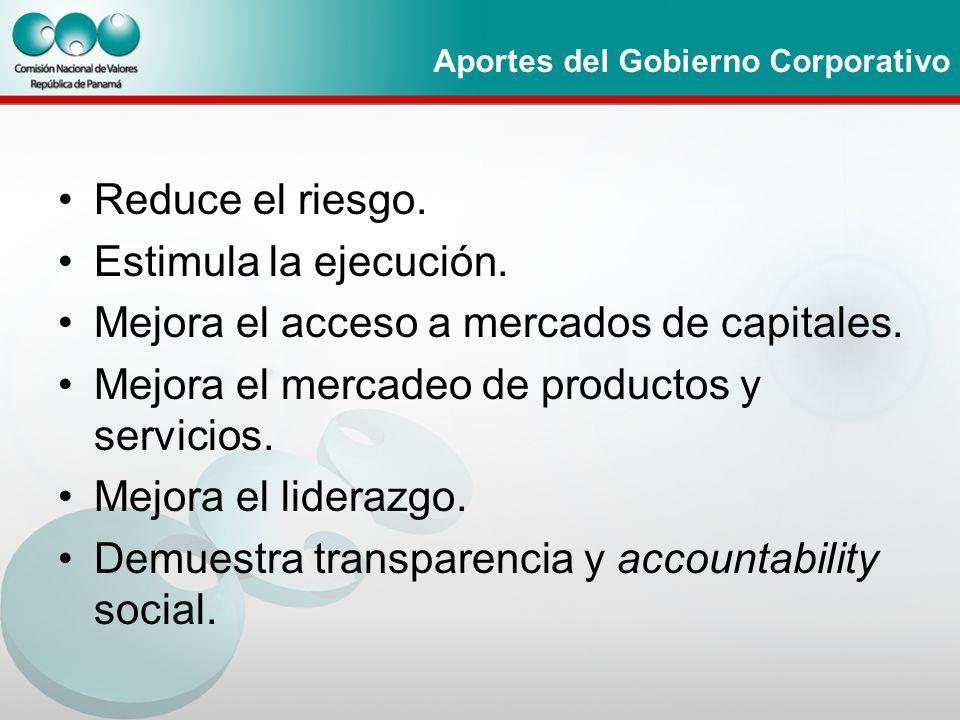 Aportes del Gobierno Corporativo