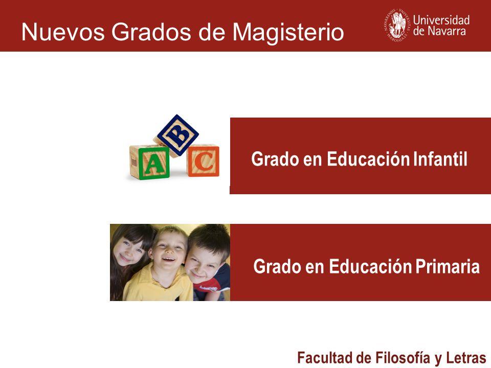 Grado en Educación Infantil Grado en Educación Primaria