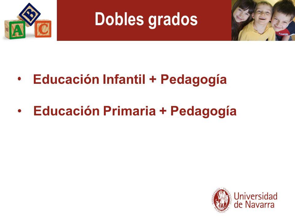 Dobles grados Educación Infantil + Pedagogía