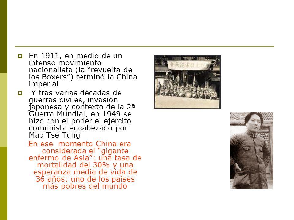 En 1911, en medio de un intenso movimiento nacionalista (la revuelta de los Boxers ) terminó la China imperial