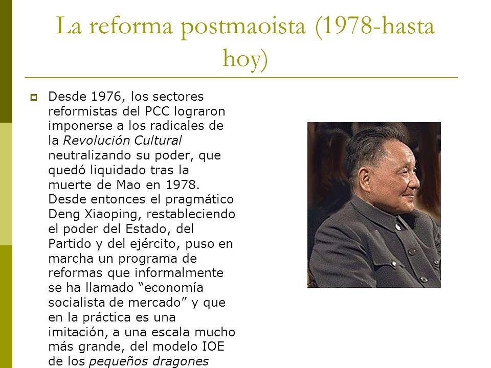 La reforma postmaoista (1978-hasta hoy)