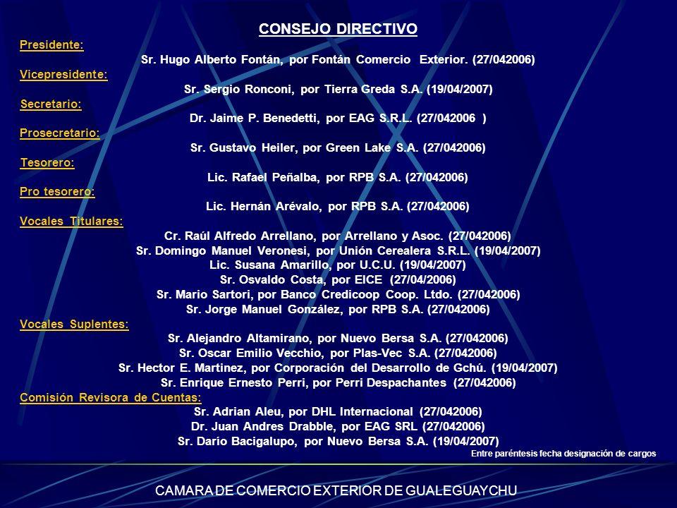 CONSEJO DIRECTIVO CAMARA DE COMERCIO EXTERIOR DE GUALEGUAYCHU