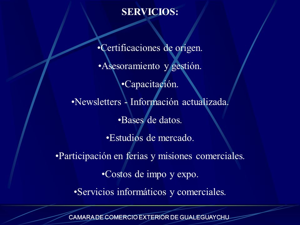Certificaciones de origen. Asesoramiento y gestión. Capacitación.