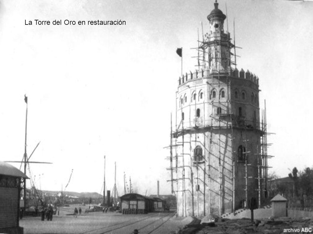 La Torre del Oro en restauración