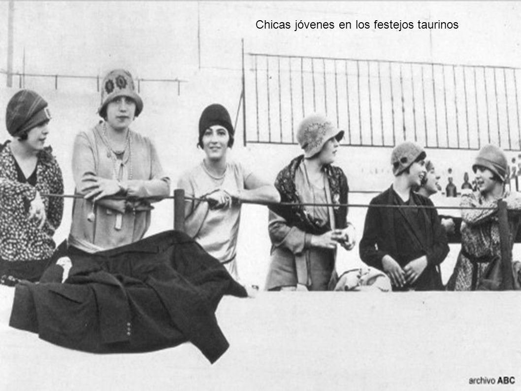 Chicas jóvenes en los festejos taurinos
