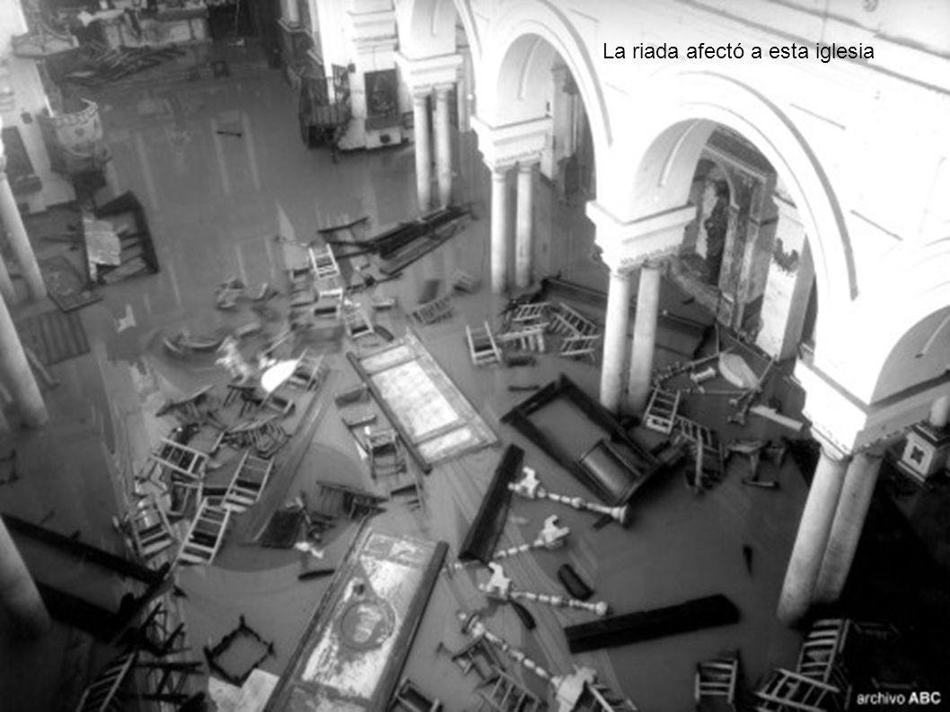 La riada afectó a esta iglesia