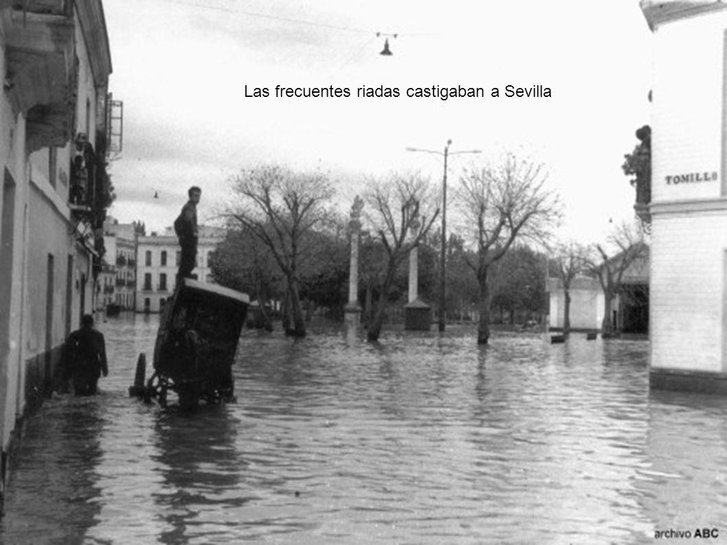 Las frecuentes riadas castigaban a Sevilla