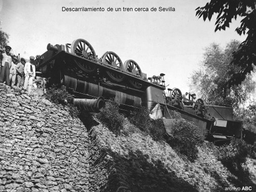 Descarrilamiento de un tren cerca de Sevilla