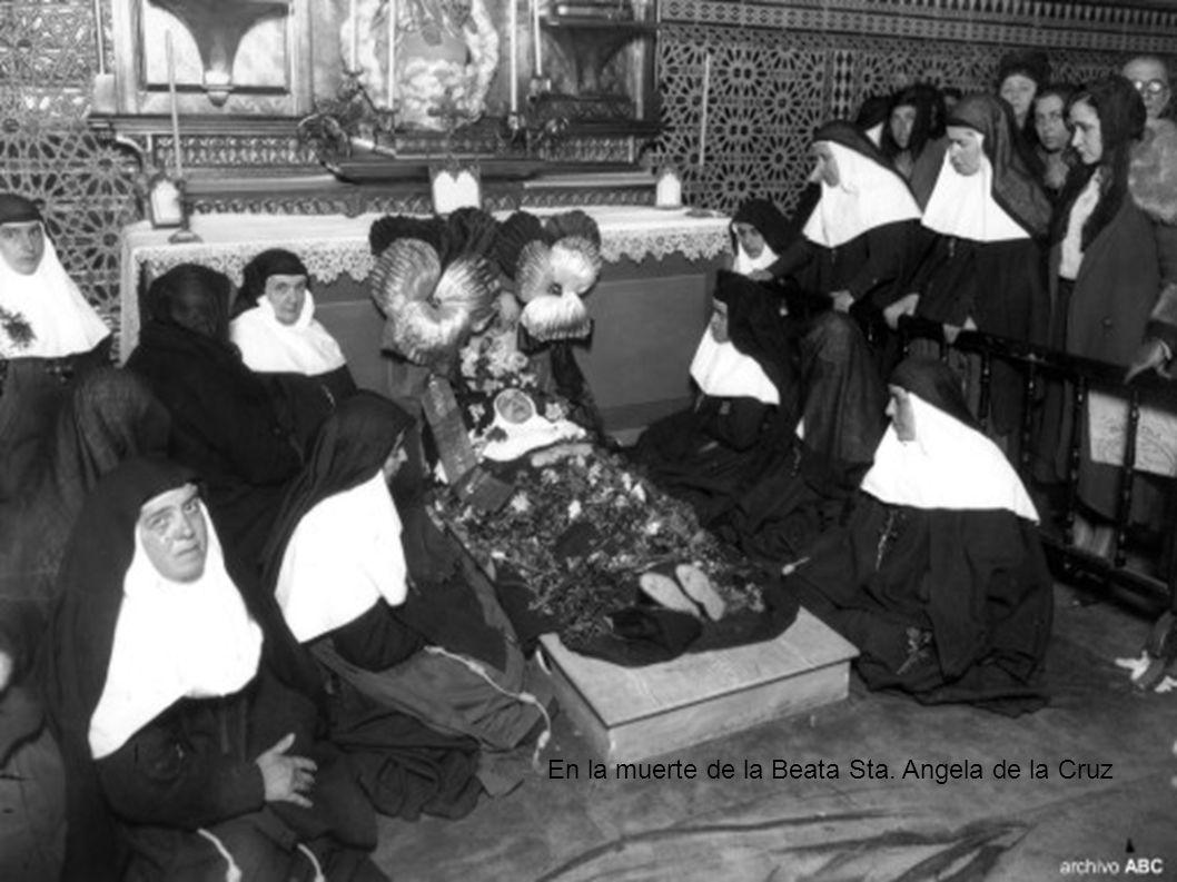 En la muerte de la Beata Sta. Angela de la Cruz