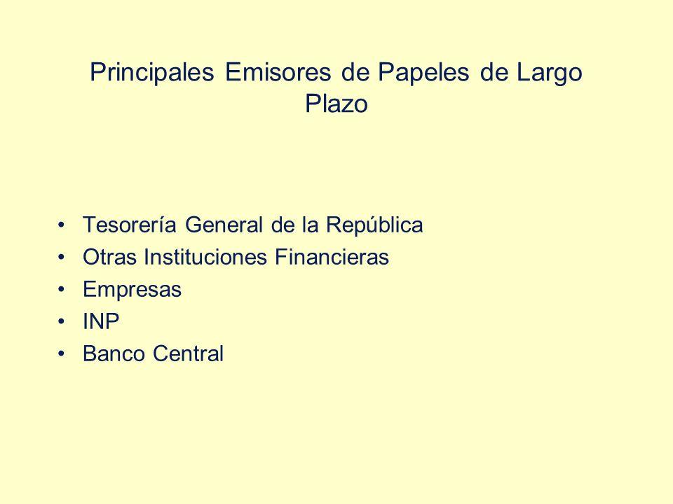 Principales Emisores de Papeles de Largo Plazo