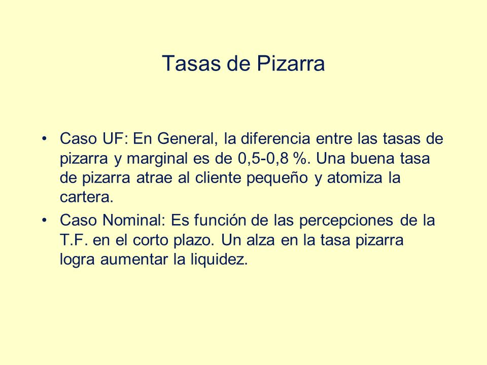 Tasas de Pizarra