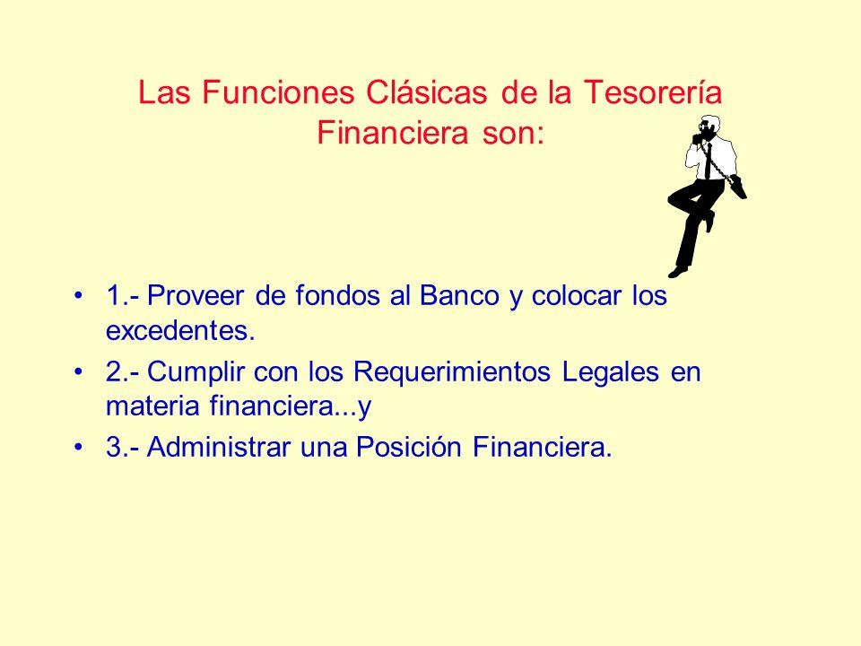 Las Funciones Clásicas de la Tesorería Financiera son: