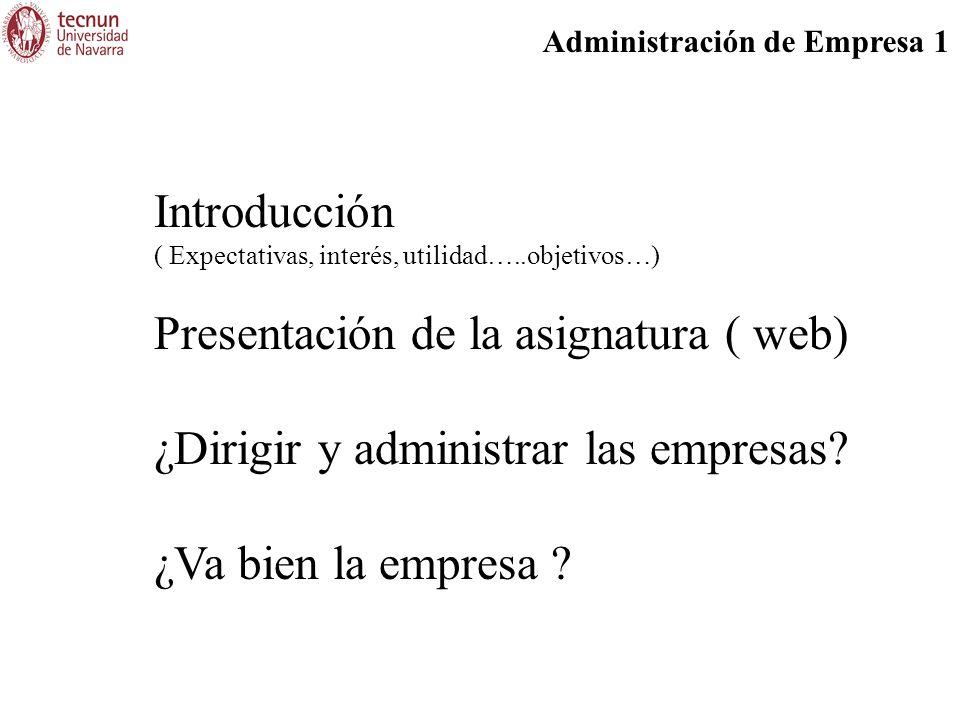 Presentación de la asignatura ( web)