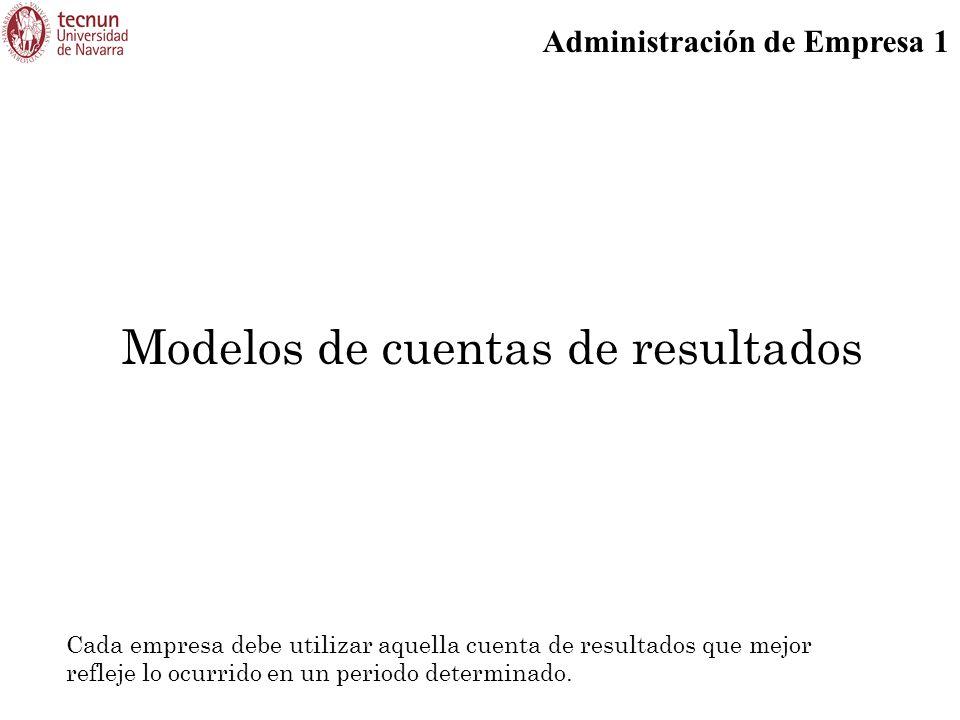 Modelos de cuentas de resultados