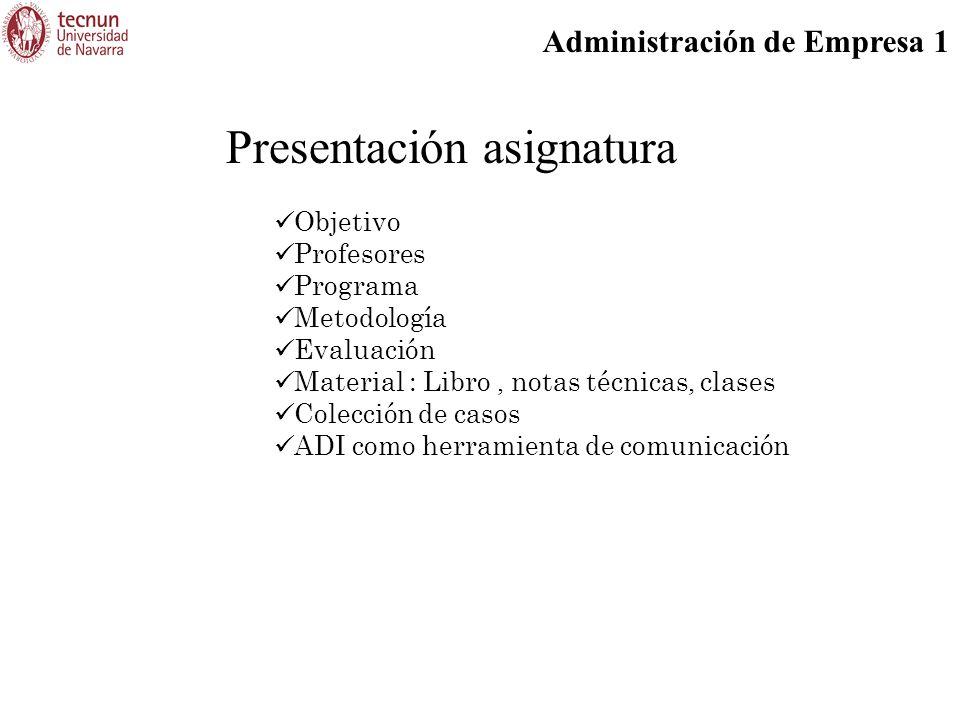 Presentación asignatura
