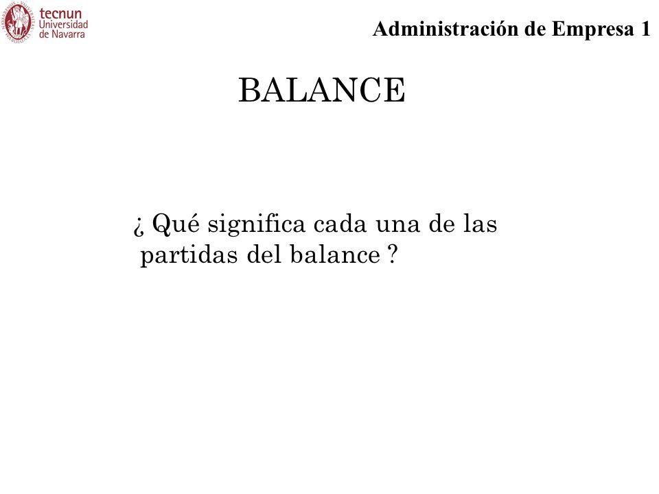 BALANCE ¿ Qué significa cada una de las partidas del balance 57
