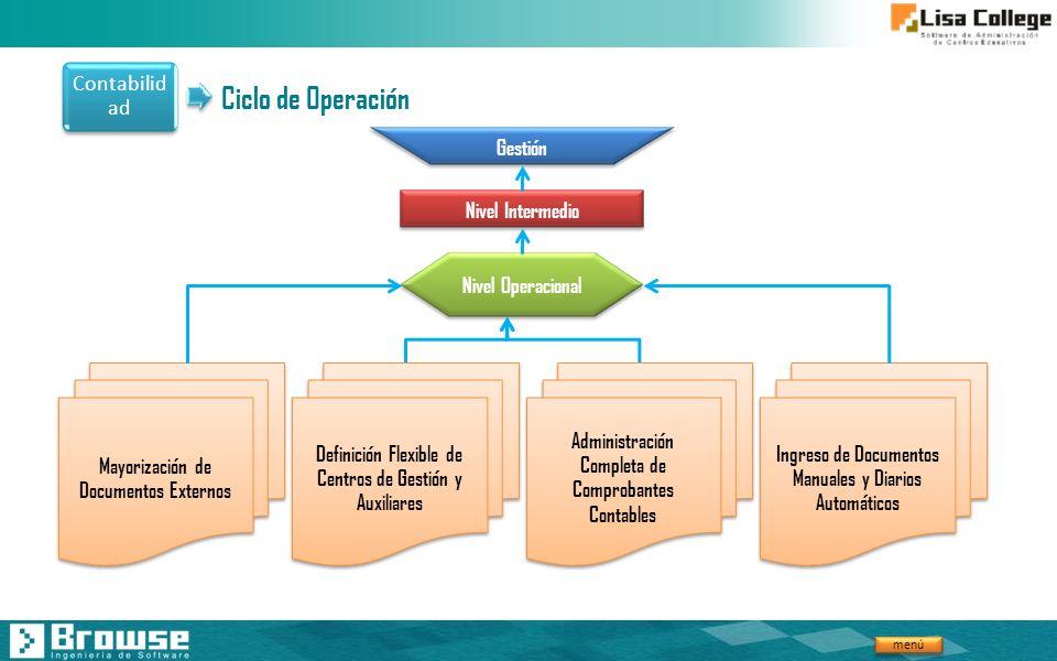 Ciclo de Operación Contabilidad Gestión Nivel Intermedio