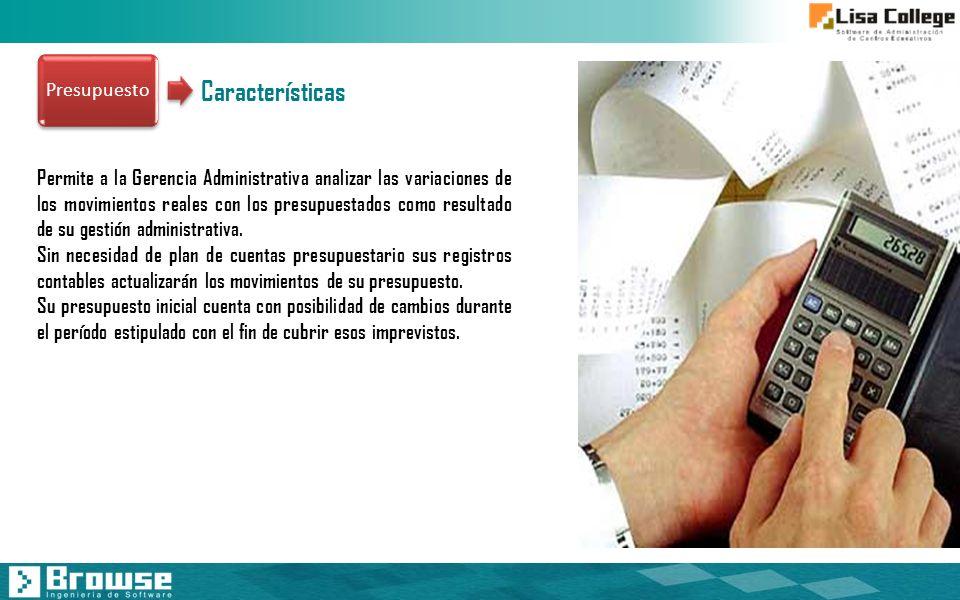 Presupuesto Características.