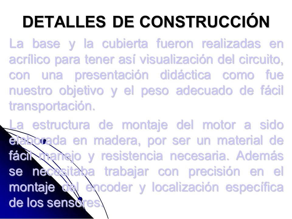 DETALLES DE CONSTRUCCIÓN