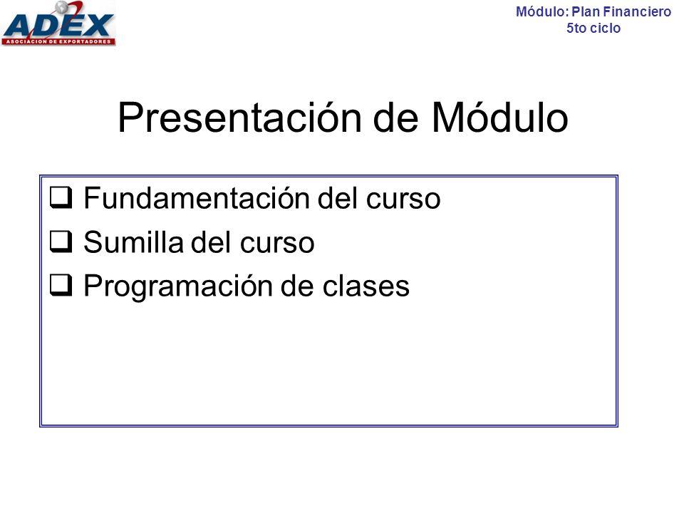 Presentación de Módulo