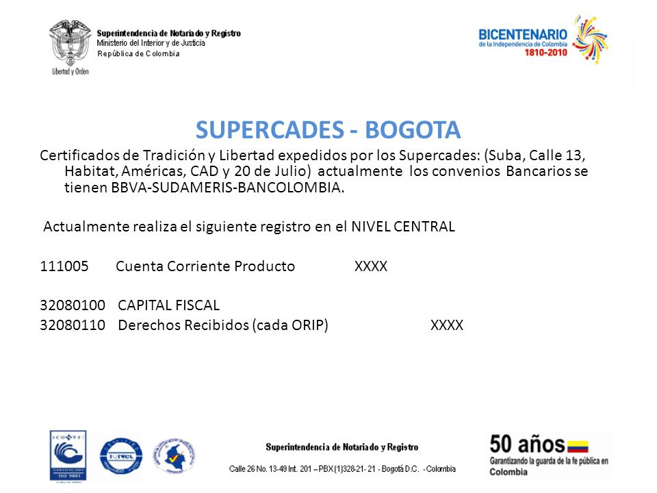 SUPERCADES - BOGOTA