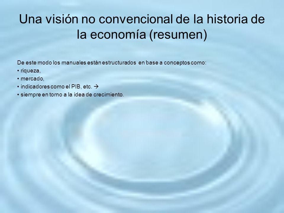 Una visión no convencional de la historia de la economía (resumen)