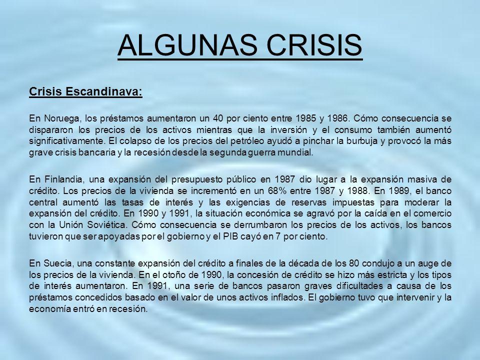 ALGUNAS CRISIS Crisis Escandinava:
