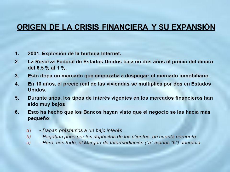 ORIGEN DE LA CRISIS FINANCIERA Y SU EXPANSIÓN